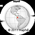 Outline Map of Mocoa, rectangular outline