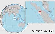 Gray Location Map of Tagelang-jae