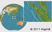 Satellite Location Map of Batupulu