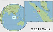 Savanna Style Location Map of Batupulu