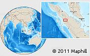 Shaded Relief Location Map of Batupulu