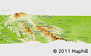 Physical Panoramic Map of Sayurmatinggi