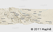 Shaded Relief Panoramic Map of Sayurmatinggi