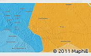Political 3D Map of Rumbiya