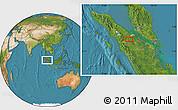 Satellite Location Map of Rumbiya