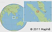 Savanna Style Location Map of Rumbiya