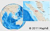 Shaded Relief Location Map of Rumbiya