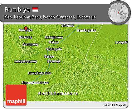 Physical Panoramic Map of Rumbiya