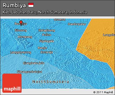 Political Panoramic Map of Rumbiya