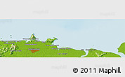 """Physical Panoramic Map of the area around 1°45'3""""N,110°34'29""""E"""