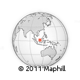 Outline Map of Pasar Kampung Maludam, rectangular outline