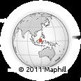 Outline Map of Rajancandung, rectangular outline