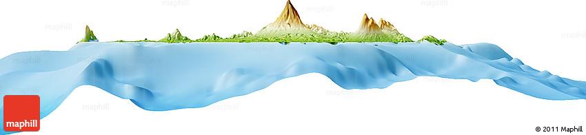 Physical Horizon Map of Manado