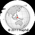 Outline Map of Manado, rectangular outline