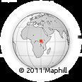 Outline Map of Itende, rectangular outline