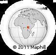 Outline Map of Bunia, rectangular outline