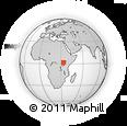 Outline Map of Dokolo, rectangular outline