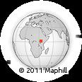 Outline Map of Soroti, rectangular outline