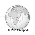 Outline Map of Mukus, rectangular outline