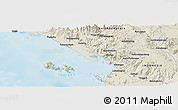 """Shaded Relief Panoramic Map of the area around 1°45'3""""N,98°40'30""""E"""