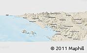Shaded Relief Panoramic Map of Lumbangaraga