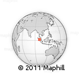 Outline Map of Mandasip, rectangular outline