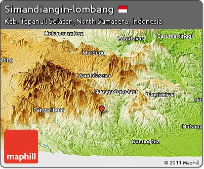 Physical Panoramic Map of Simandiangin-lombang