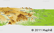 Physical Panoramic Map of Gunungtua