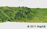 Satellite Panoramic Map of Mandasip