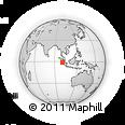 Outline Map of West Sumatra, rectangular outline
