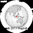 Outline Map of Central Kalimantan, rectangular outline