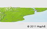 Physical Panoramic Map of Balikpapan