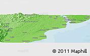 Political Panoramic Map of Balikpapan