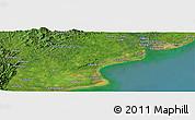 Satellite Panoramic Map of Balikpapan