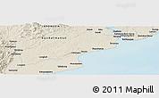 Shaded Relief Panoramic Map of Balikpapan
