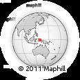 Outline Map of Kampung Baru, rectangular outline