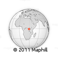 Outline Map of Masisi, rectangular outline