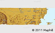 """Physical Panoramic Map of the area around 1°24'2""""S,31°31'29""""E"""