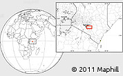 """Blank Location Map of the area around 1°24'2""""S,37°28'30""""E"""