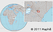 Gray Location Map of Katothia