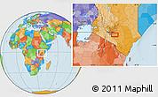 Political Location Map of Katothia