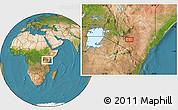 Satellite Location Map of Katothia