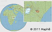 "Savanna Style Location Map of the area around 1°24'2""S,37°28'30""E"