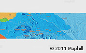"""Political Panoramic Map of the area around 1°24'2""""S,37°28'30""""E"""
