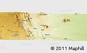 Physical Panoramic Map of Tulia