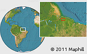 "Satellite Location Map of the area around 1°24'2""S,47°31'29""W"