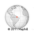 """Outline Map of the Area around 1° 24' 2"""" S, 47° 31' 29"""" W, rectangular outline"""