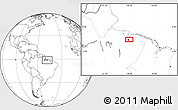 """Blank Location Map of the area around 1°24'2""""S,48°22'30""""W"""
