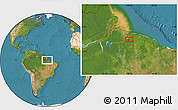 "Satellite Location Map of the area around 1°24'2""S,48°22'30""W"