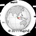 Outline Map of Jambi, rectangular outline
